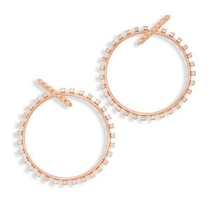 Jewelry - Kendra Scott Charlie Grace Hoops Rose Gold